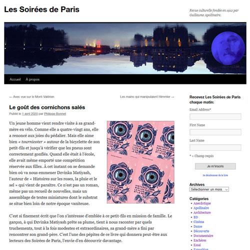 Histoires sur les roses (Les Soirées de Paris)
